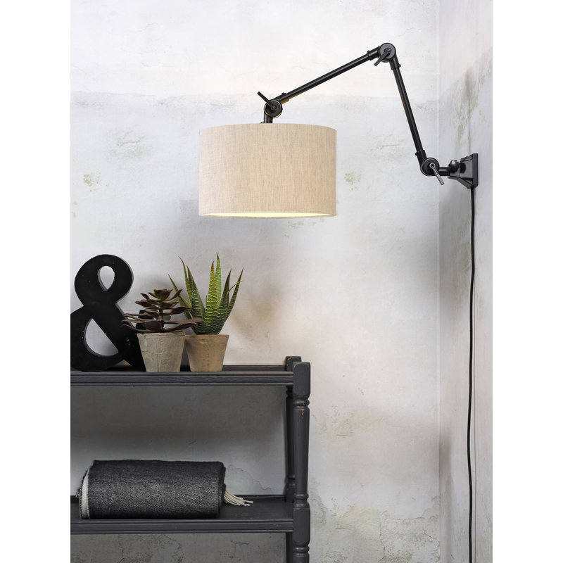 it's about RoMi-collectie Wall lamp Amsterdam shade 3220cm l.linen, M