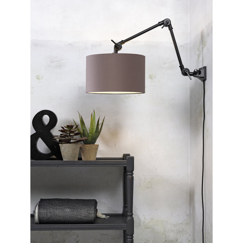 it's about RoMi-collectie Wandlamp Amsterdam kap 3220cm sand grey, M