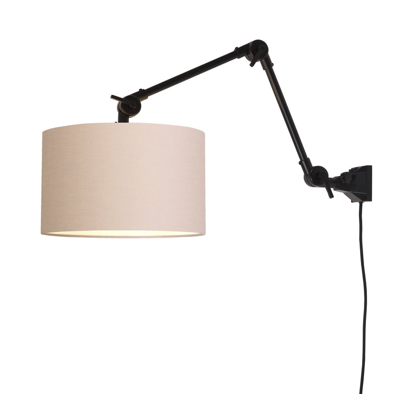 it's about RoMi-collectie Wandlamp Amsterdam kap 3220cm taupe, M