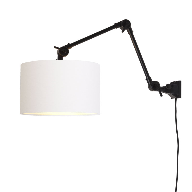 it's about RoMi-collectie Wall lamp Amsterdam shade 3220cm white, M