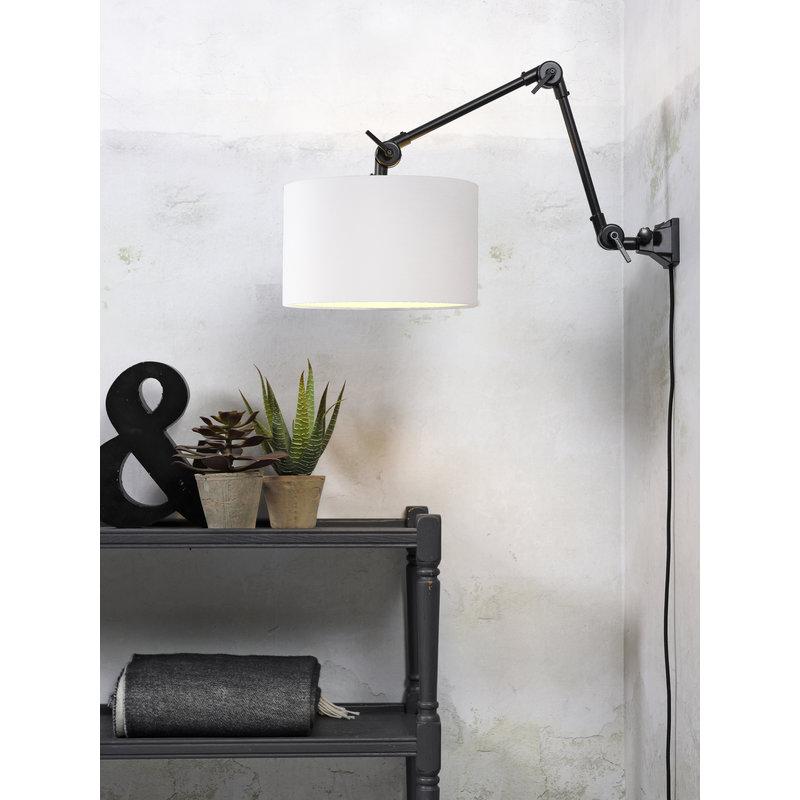 it's about RoMi-collectie Wandlamp Amsterdam kap 3220cm wit, M