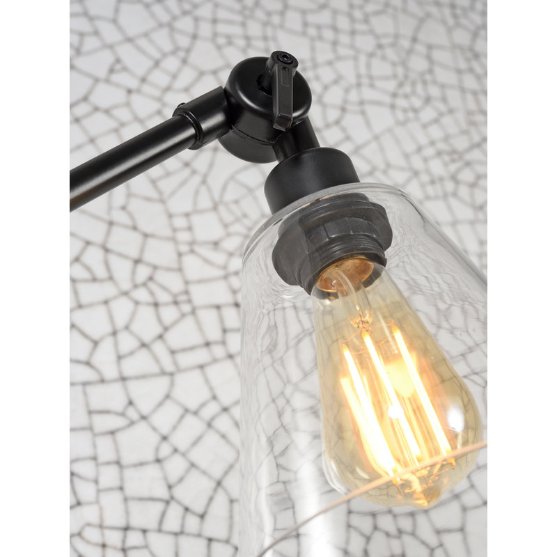 it's about RoMi-collectie Wall lamp Amsterdam glass shade clear, M