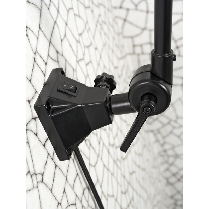 it's about RoMi-collectie Wall lamp Amsterdam enamel shade black, M
