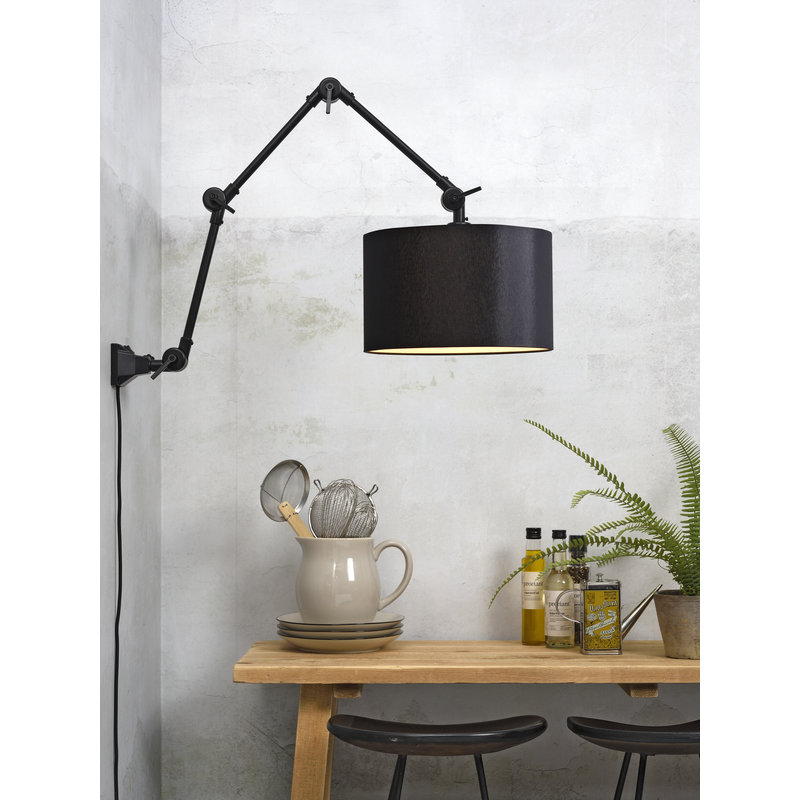 it's about RoMi-collectie Wall lamp Amsterdam shade 3220 black, L