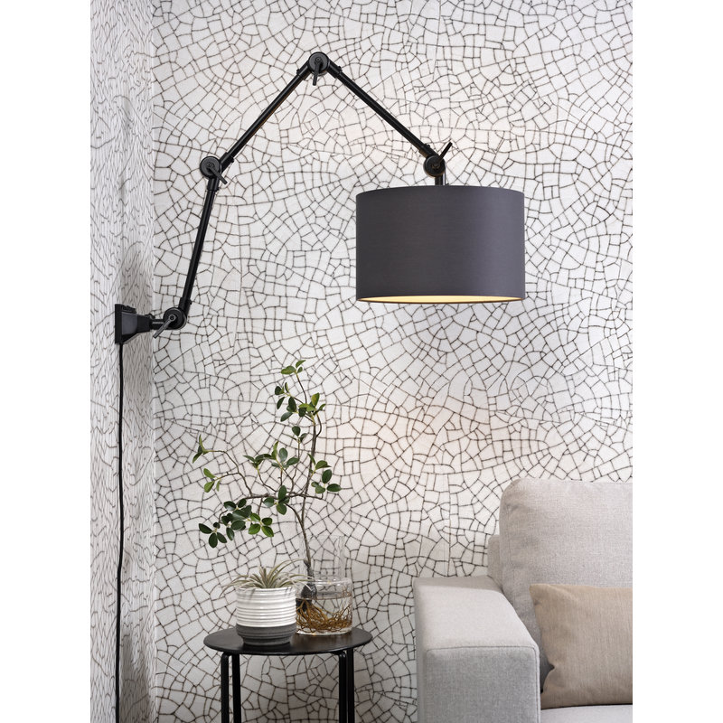 it's about RoMi-collectie Wall lamp Amsterdam shade 3220 d.grey, L