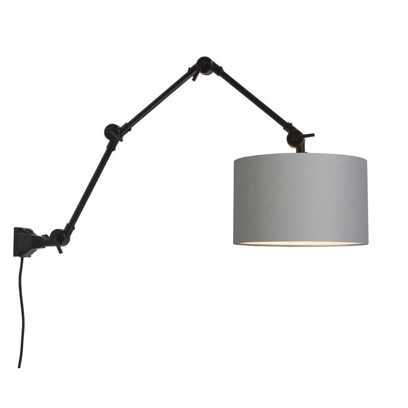 it's about RoMi-collectie Wall lamp Amsterdam shade 3220 l.grey, L