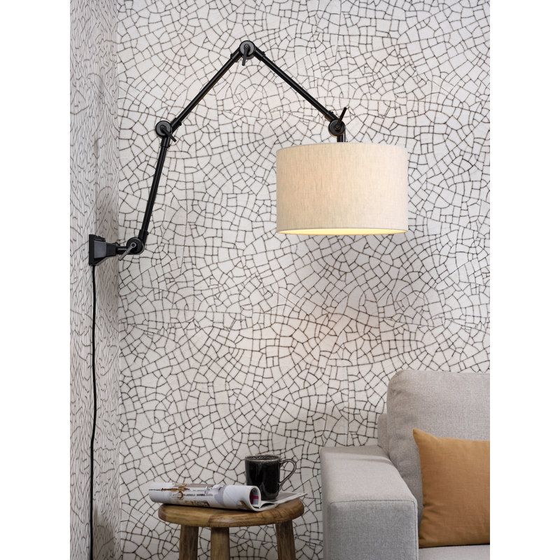 it's about RoMi-collectie Wall lamp Amsterdam shade 3220 l.linen, L