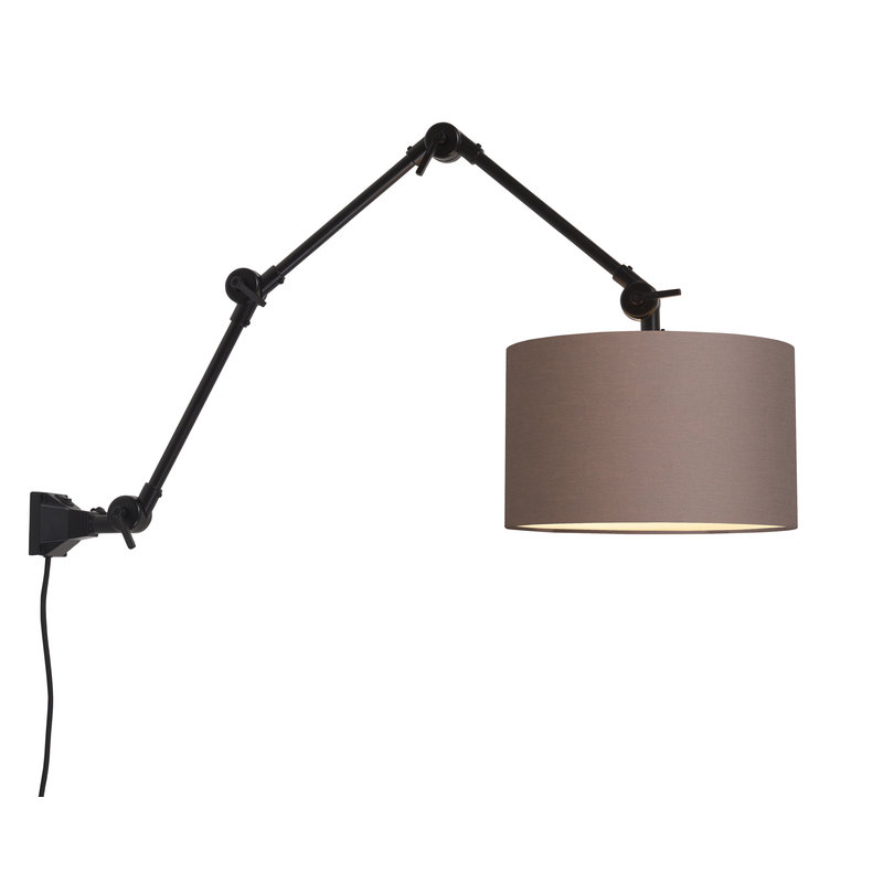 it's about RoMi-collectie Wall lamp Amsterdam shade 3220 sand grey, L