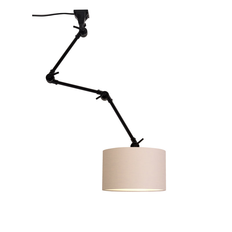 it's about RoMi-collectie Wandlamp Amsterdam kap 3220 taupe, L