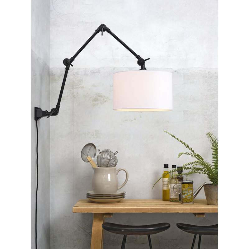 it's about RoMi-collectie Wall lamp Amsterdam shade 3220 white, L