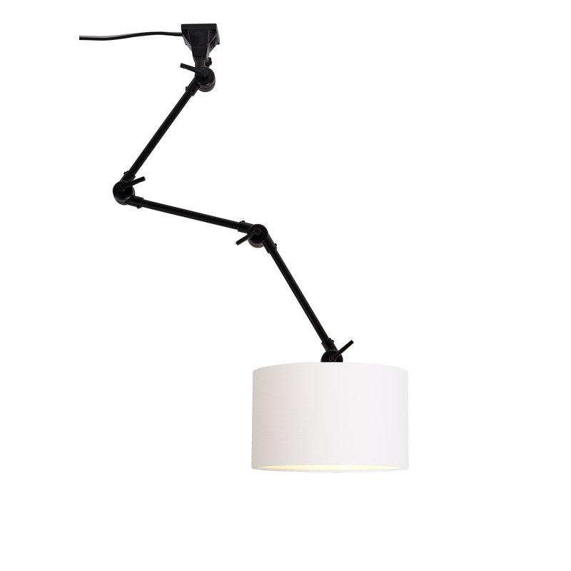 it's about RoMi-collectie Wandlamp Amsterdam kap 3220 wit, L