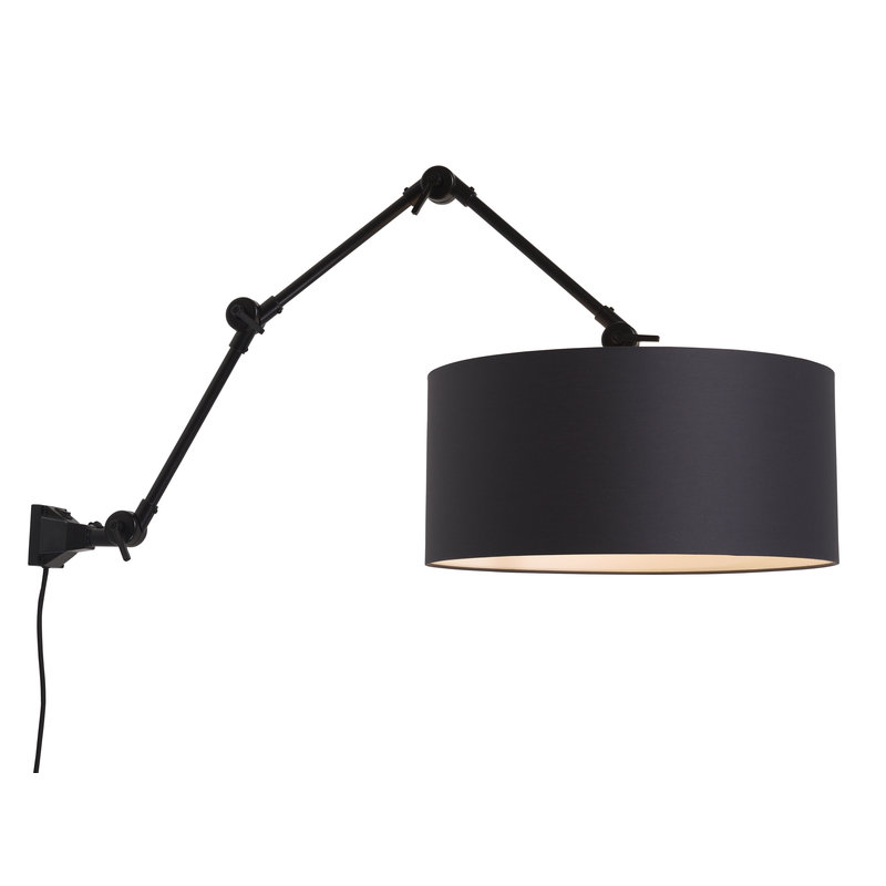 it's about RoMi-collectie Wall lamp Amsterdam shade 4723 black, L