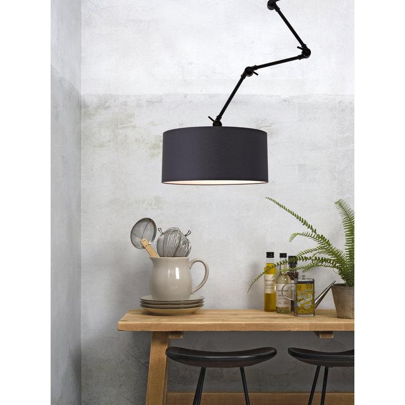 it's about RoMi-collectie Wandlamp Amsterdam kap 4723 zwart, L
