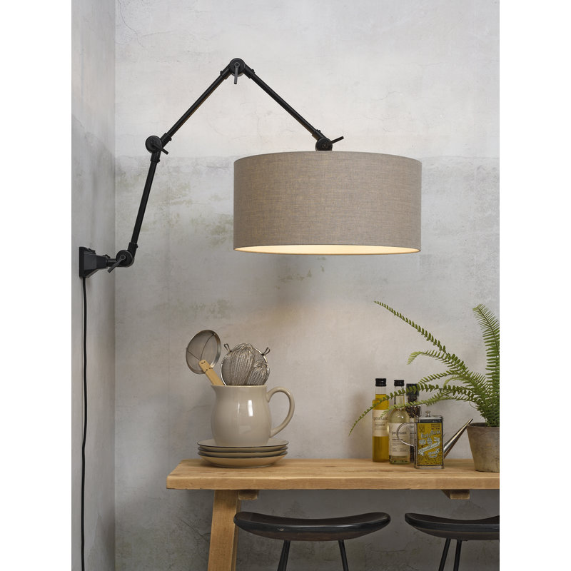 it's about RoMi-collectie Wandlamp Amsterdam kap 4723 d.linnen, L