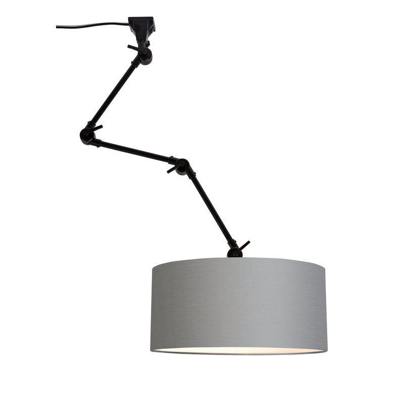it's about RoMi-collectie Wall lamp Amsterdam shade 4723 l.grey, L