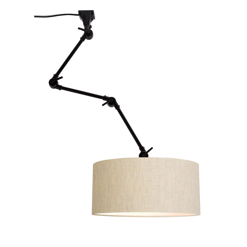 it's about RoMi-collectie Wall lamp Amsterdam shade 4723 l.linen, L