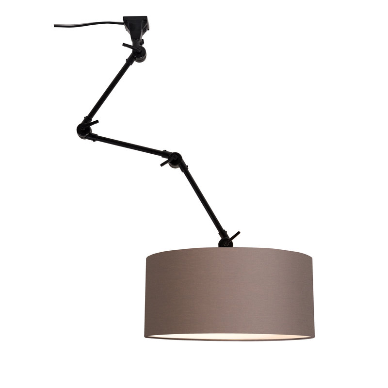 it's about RoMi-collectie Wandlamp Amsterdam kap 4723 smoke grey, L
