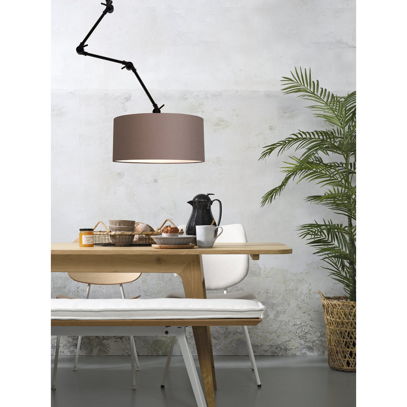 it's about RoMi-collectie Wall lamp Amsterdam shade 4723 sand grey, L