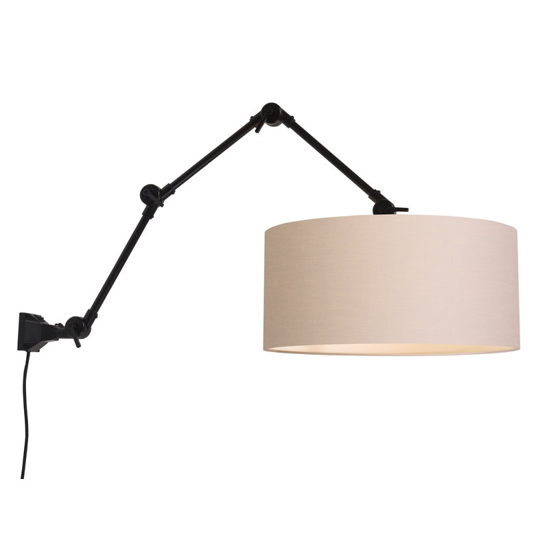 it's about RoMi-collectie Wall lamp Amsterdam shade 4723 taupe, L