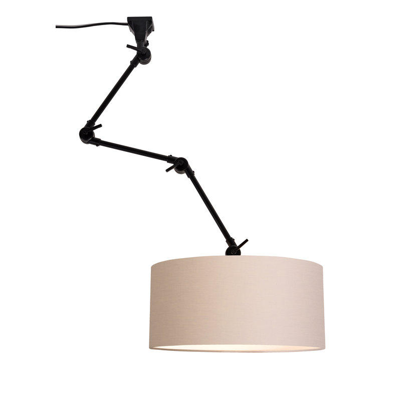 it's about RoMi-collectie Wandlamp Amsterdam kap 4723 taupe, L