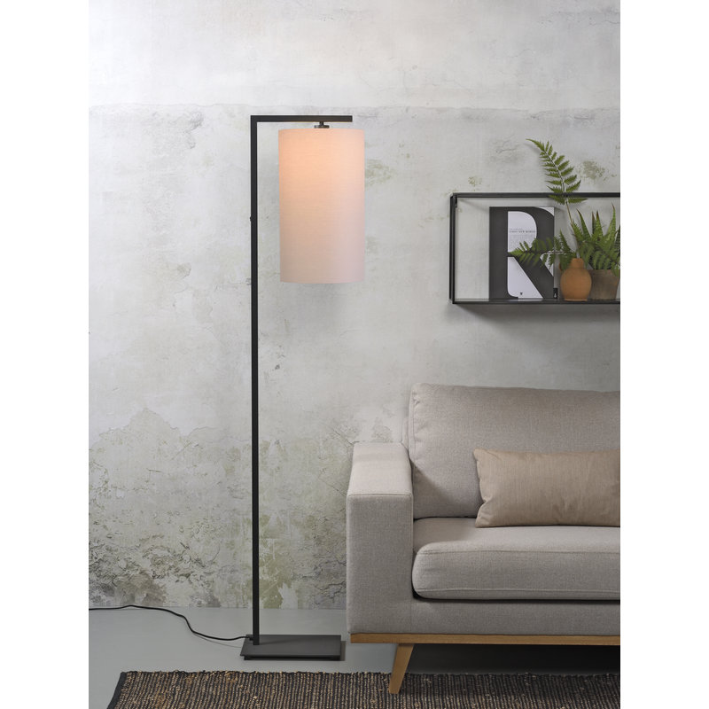 it's about RoMi-collectie Vloerlamp Boston kap 2545 taupe