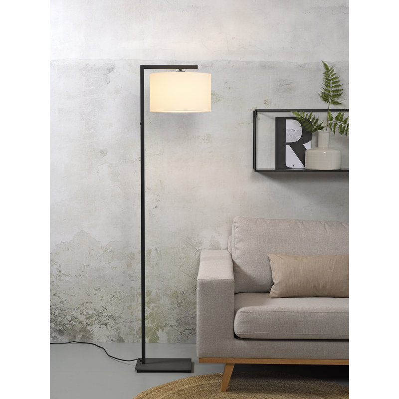 it's about RoMi-collectie Vloerlamp Boston kap 3220 wit