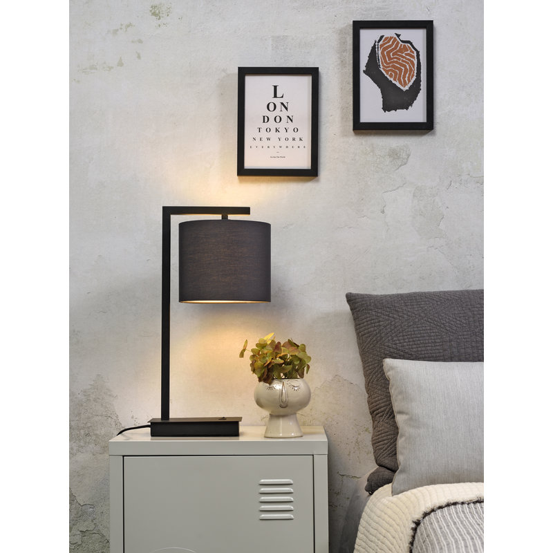 it's about RoMi-collectie Table lamp Boston shade 1815 d.grey