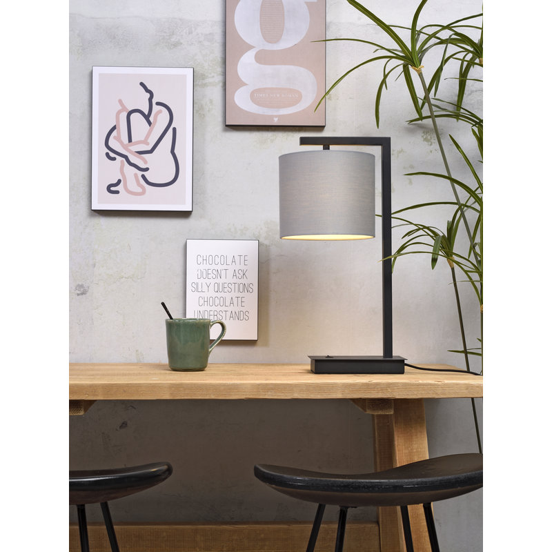 it's about RoMi-collectie Table lamp Boston shade 1815 l.grey