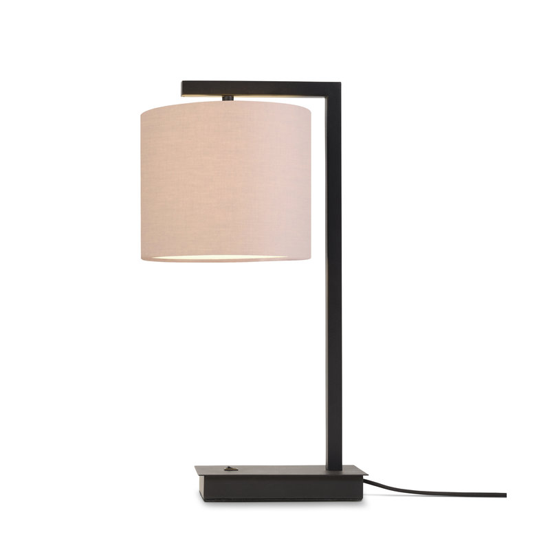 it's about RoMi-collectie Table lamp Boston shade 1815 taupe