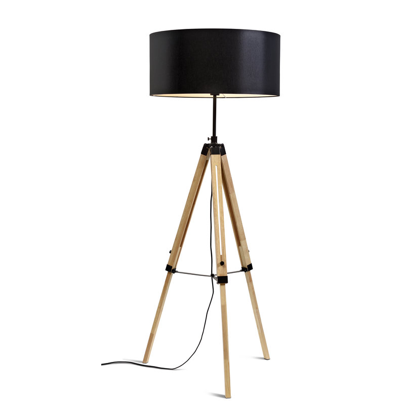 it's about RoMi-collectie Floor lamp Darwin black/shade 6030 black