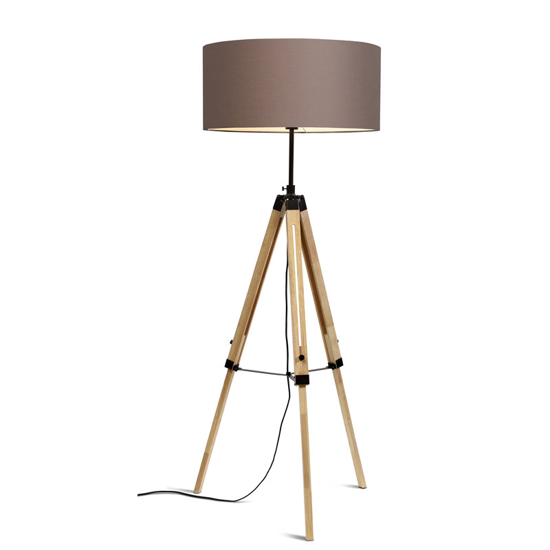 it's about RoMi-collectie Vloerlamp Darwin zwart/kap 6030 smoke grey