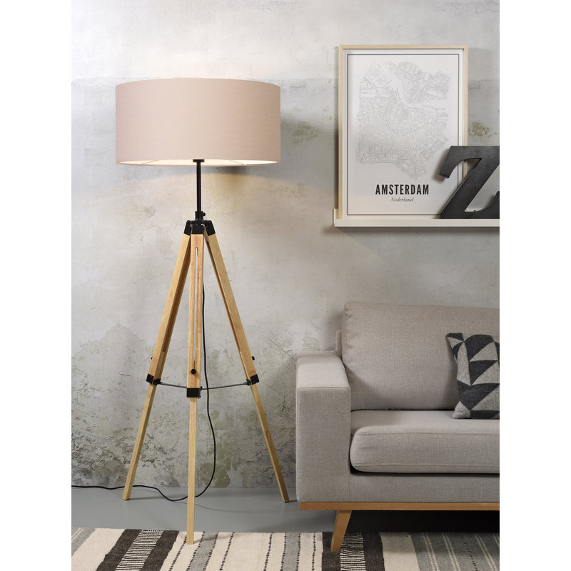 it's about RoMi-collectie Floor lamp Darwin black/shade 6030 taupe