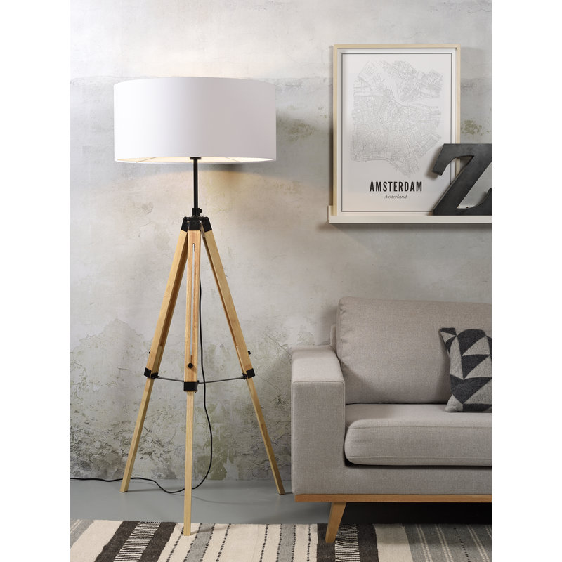 it's about RoMi-collectie Floor lamp Darwin black/shade 6030 white