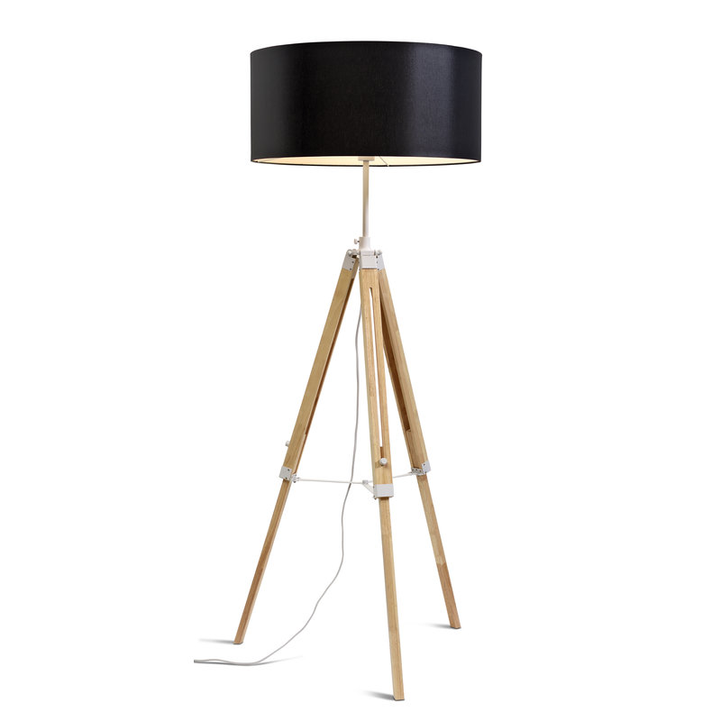 it's about RoMi-collectie Floor lamp Darwin white/shade 6030 black