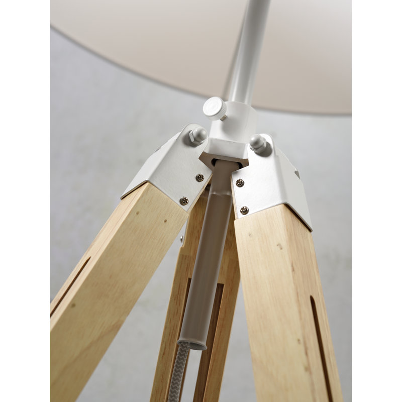 it's about RoMi-collectie Vloerlamp Darwin wit/kap 6030 d.grijs