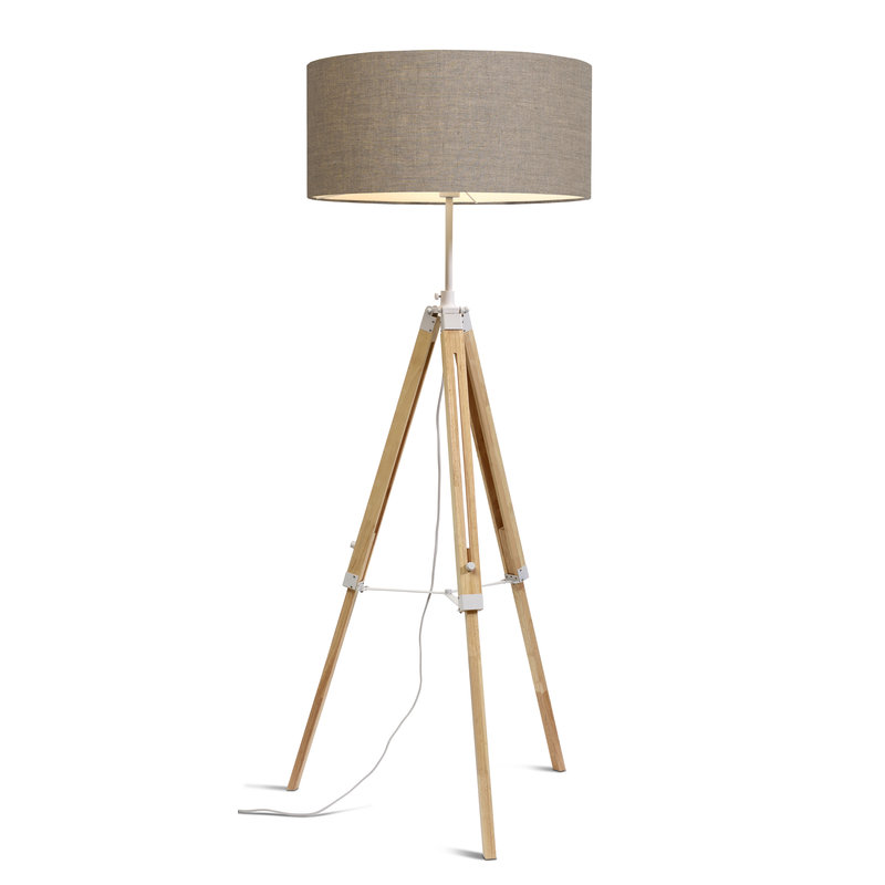 it's about RoMi-collectie Vloerlamp Darwin wit/kap 6030 d.linnen