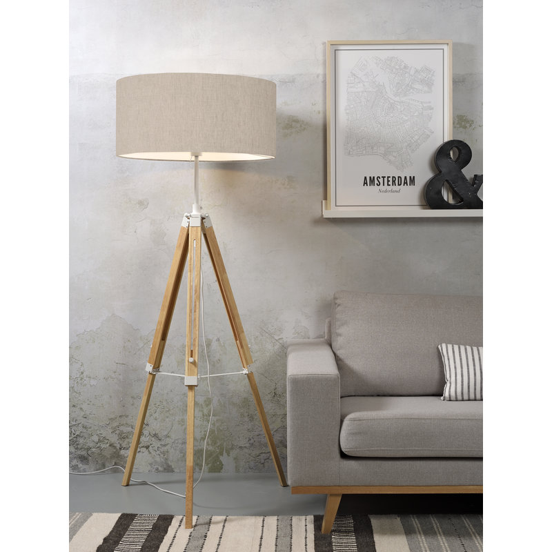 it's about RoMi-collectie Floor lamp Darwin white/shade 6030 l.linen