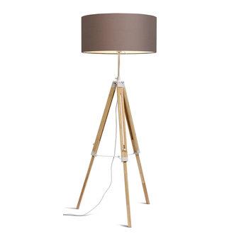 it's about RoMi Vloerlamp Darwin wit/kap 6030 sand grey
