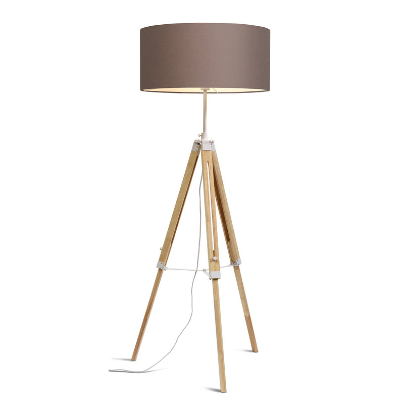 it's about RoMi-collectie Floor lamp Darwin white/shade 6030 sand grey