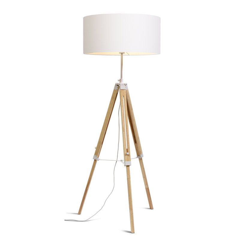 it's about RoMi-collectie Vloerlamp Darwin wit/kap 6030 wit