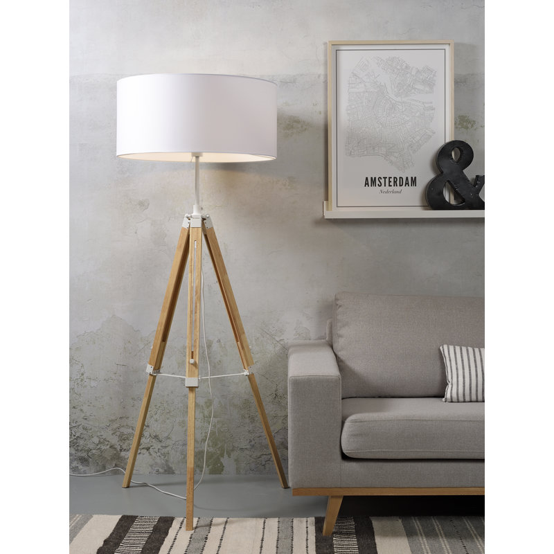 it's about RoMi-collectie Floor lamp Darwin white/shade 6030 white
