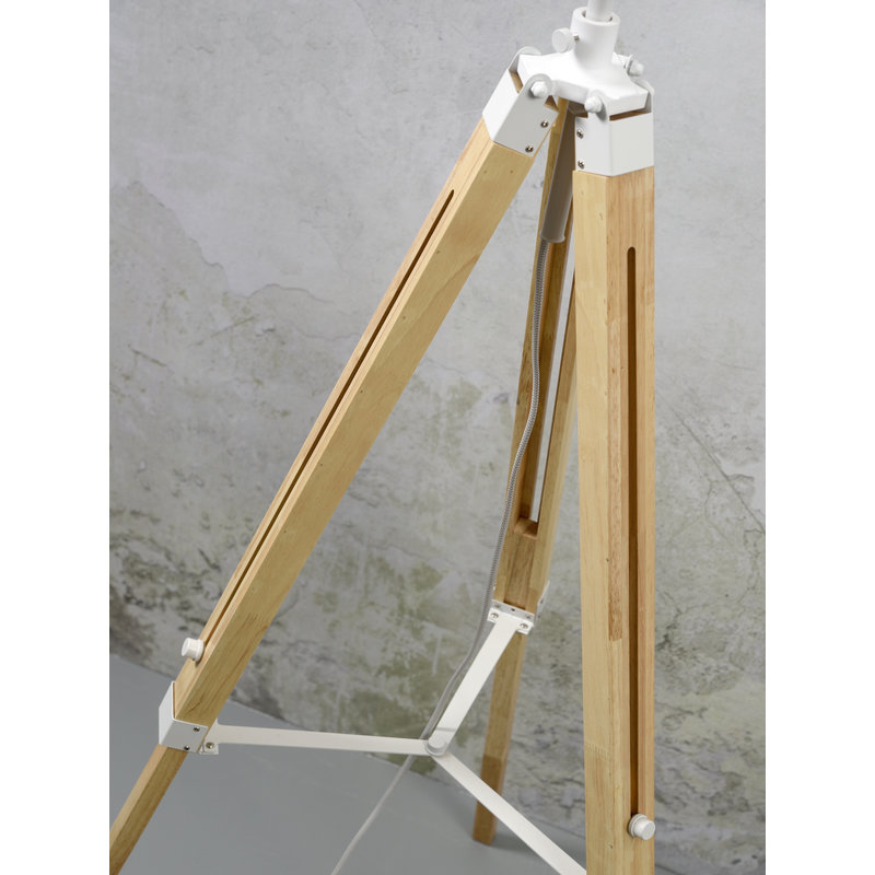 it's about RoMi-collectie Vloerlamp Darwin wit/kap 6030 wit