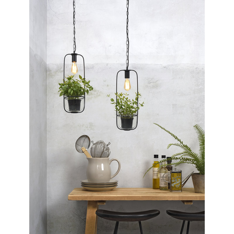 it's about RoMi-collectie Hanglamp/planthouder Florence zwart