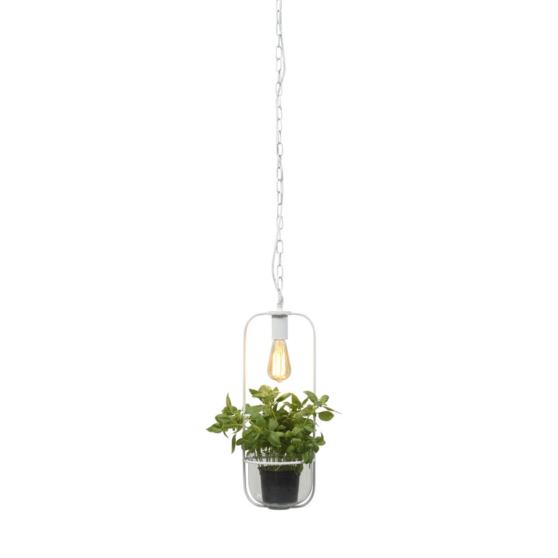 it's about RoMi-collectie Hanglamp/planthouder Florence wit