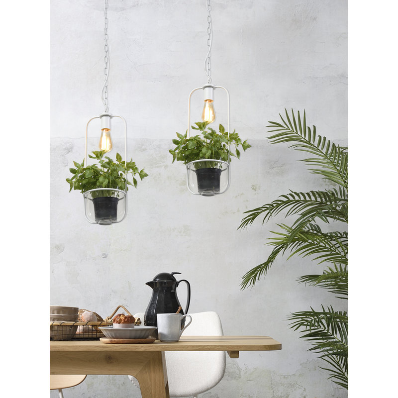 it's about RoMi-collectie Hanging lamp/plant holder Florence white