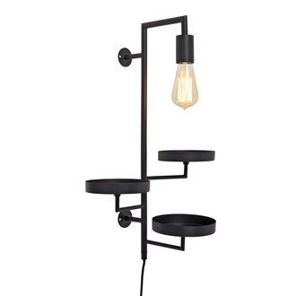 it's about RoMi Wall lamp/3 plant holders Florence black
