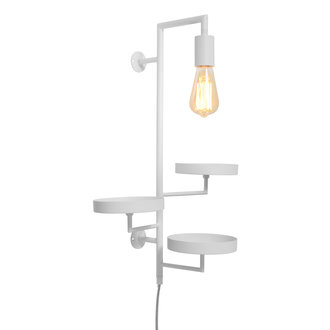 it's about RoMi Wandlamp/3 planthouders Florence wit