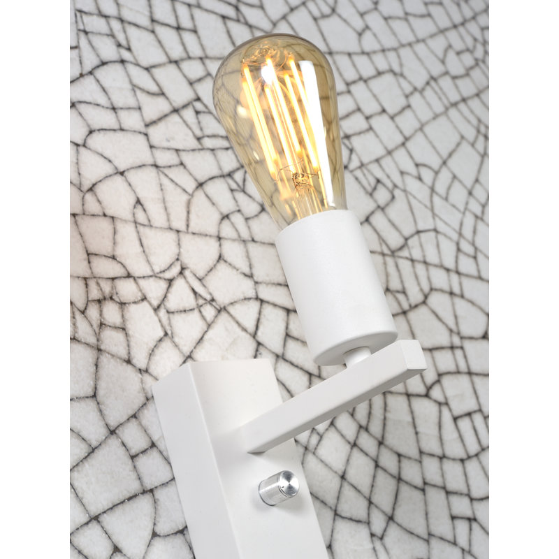 it's about RoMi-collectie Wandlamp Florence plank+usb+leeslamp wit