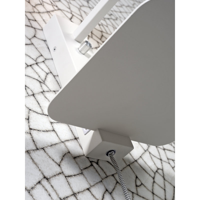 it's about RoMi-collectie Wall lamp Florence shelf+usb white