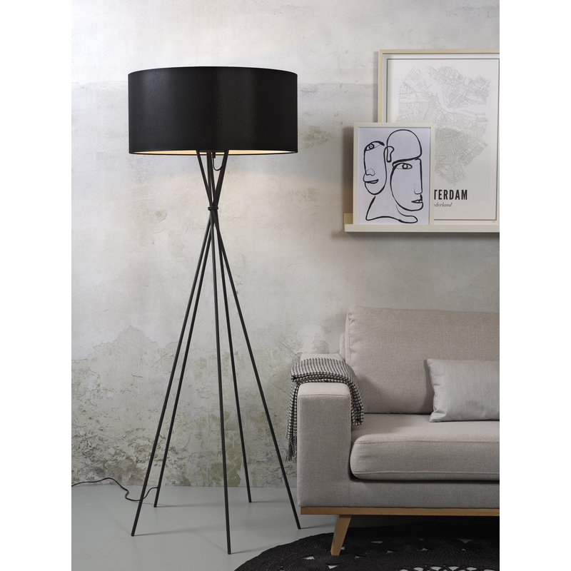 it's about RoMi-collectie Floor lamp Lima black/shade 6030 black